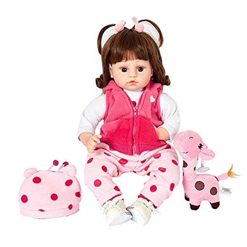 Realistas Bebé Reborn Muñecas, 50cm Realista Vinilo de Silicona Suave Hecho a Mano, para niños Mayores de 3 años Reborn Toddler Babies Reborn Baby Niña Magnetismo Juguetes