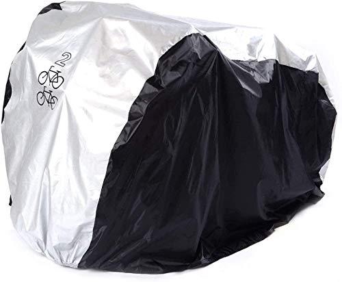 LYYJIAJU Indoor Outdoor Storage Bicycle Cover 2 Bicycle Rain Cover Waterproof Cycle Bike Outdoor Dust Resistant UV Protection Road Bike Covers