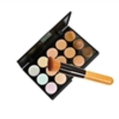 Da.Wa 15 Couleurs Face Concealer Camouflage Palette + 1pcs Brosse de Maquillage pour Femmes Lady