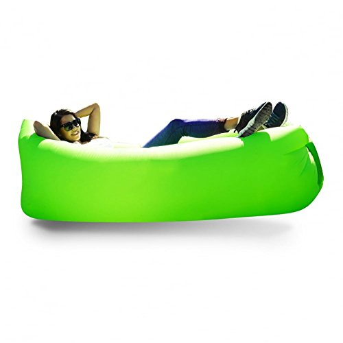 BILLOW BAG Outdoor Inflatable Lounger/Airbed- Air Bag Green