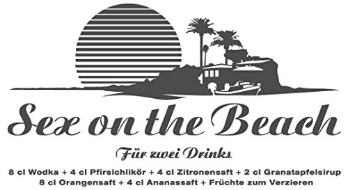 dekodino® Wandtattoo Küche Cocktails Sex on the beach Rezept Wandsticker