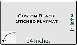 HiddenSupplies Custom Black Stitched Playmat 24 x 14 Inch for Pokemon Magic The Gathering Yugioh