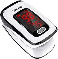 ANKOVO Saturimetro da dito, monitor di saturazione ossigeno nel sangue, monitor battito cardiaco e livello spO2, battito...