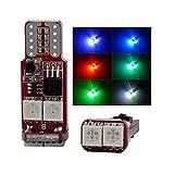 SOCAL-LED 2x RC T10 194 W5W lampadine LED RGB 5050 6SMD Luminoso Cuneo Interni/Cupola/Mappa/Porta/Luce Targa (Solo bulbo)
