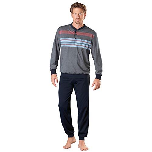 Hajo Klima Komfort Herren-Schlafanzug Single-Jersey Marine Größe 48/50