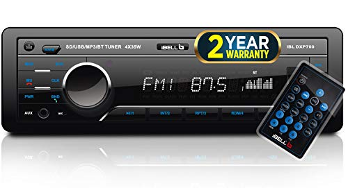 iBELL DXP700 140W Car Stereo Media MP3 Music System, Bluetooth One Touch to Receive Call (FM/AUX/USB/MMC)