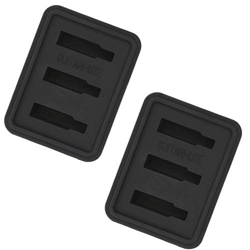 Timiy Durable Soft Rubber Acoustic Guitar Practice Mute Guitar Silencer Pad-Pack of 2