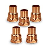 Supply Giant DDGA0012-5 Female Adapter Fitting Sweat x FIP Connections, 1/2, Copper