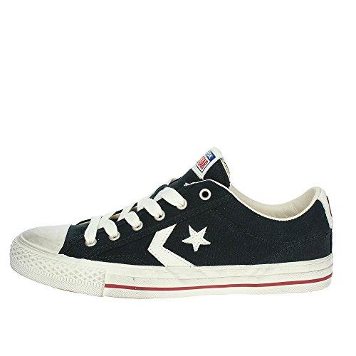 Converse Scarpe Sneakers Star Player Distressed Ox Uomo Nero 160922C-NERO