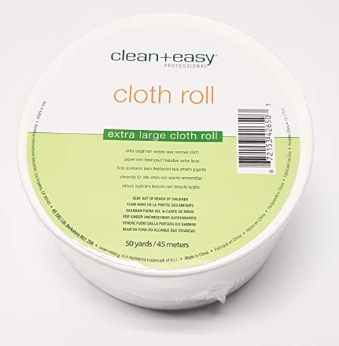 Clean+easy Extra Large Non-woven Wax Remover Cloth Roll