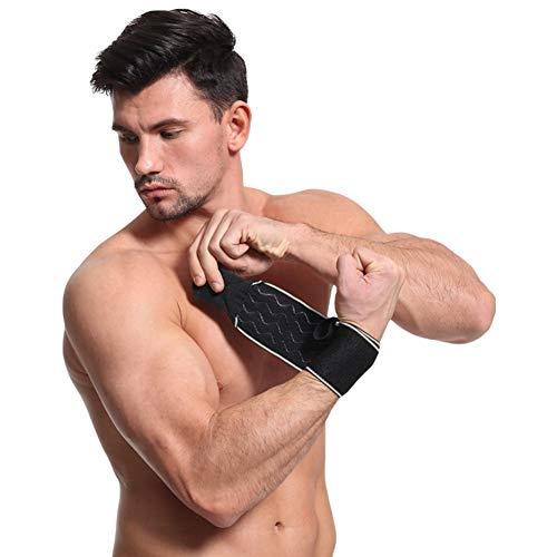 Onewell 1 Paar Handgelenkbandage mit Daumenschlaufe, elastisch, Verstellbarer Unterarm, Handschlaufe, Protektor für Fitnessstudio, Fitness, Sportbekleidung, grau