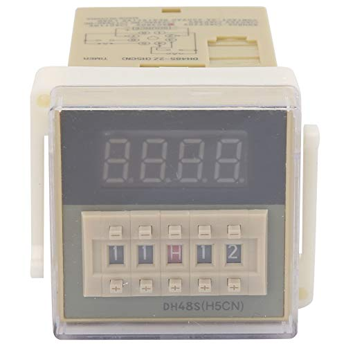 O111ROM DH48S-2Z Pantalla LCD Temporizador de tiempo Relé de retardo 8 pines 0.01S-9999H Se utiliza para vallas publicitarias al aire libre, talleres de fábrica, lámparas de(380VAC)