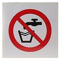 RS PRO 禁止ラベル「Not Drinking Water (飲めません)」 ビニール製 黒/赤/白 8578637