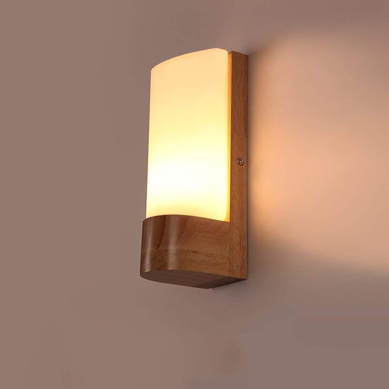 HhGold Das kreative Holz von Holz Wandleuchte führte Schlafzimmer Walking Bed Balkon Empfang von Licht Lampe Nachttischlampe (Farbe   -, Gre   -)