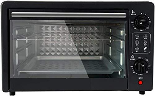 22L Mini horno eléctrico, temperatura ajustable 100-230 °, horno eléctrico Freestanding 60 Min Timer Auto apagado 1000W negro