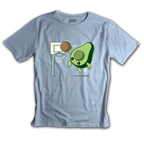 Fanisetas - Camiseta Vegan Basketball - Camisetas Divertidas - Frikis - Originales (L)
