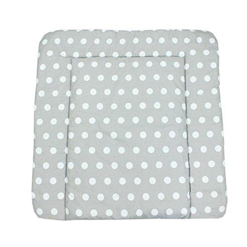 TupTam Baby Wickeltischauflage mit Baumwollbezug Gemustert, Farbe: Muster 8, Größe: 75 x 85 cm