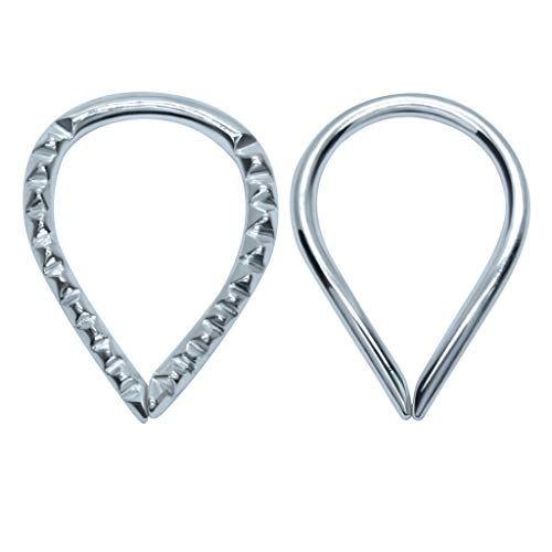 Knorpel-oorbellen – zilveren oorpiercingset – 2 paar piercing-oorbellen voor vrouwen – elegant en stijlvol – comfortabel design – nikkelvrij geschikt voor mensen met een allergie.