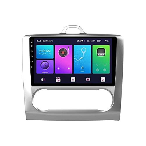 GPS Navegador GPS Coche Estéreo Pantalla táctil Bluetooth FM Am Receptor de Radio Reproductor de Video Musical para Ford Focus 2004-2014 con Controles de Volante WiFi, 8 núcleos 4G + WiFi: 2 +