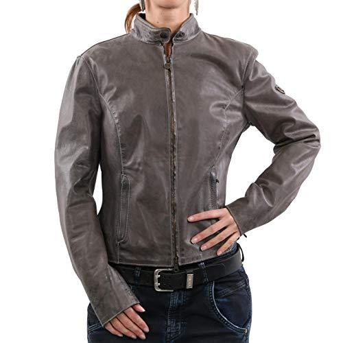 Matchless Damen Leder Jacke M5 Blouson Elephant Grey 123121 Größe (42) S