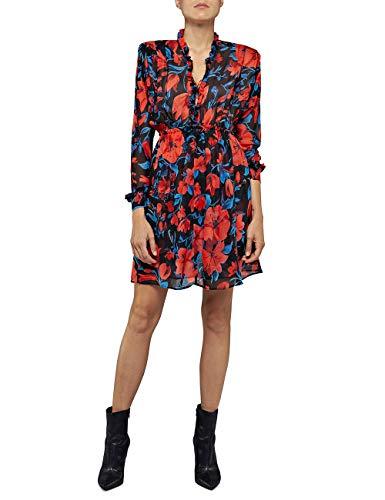 REPLAY W9611 .000.72090 Vestido, Multicolor (Multicolor 010), Medium para Mujer