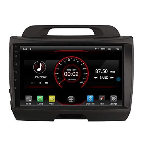 Android 10 GPS para automóvil Unidad principal estéreo Navi Radio Multimedia WiFi para Kia Sportage 2010 2011 2012 2013 2014 2015 Control del volante incorporado CarPlay con cable