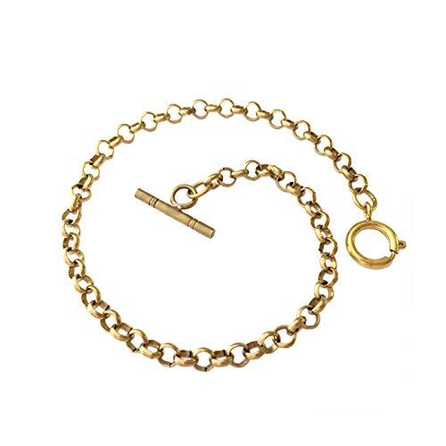 FJXJLKQS Correa De Reloj Correa De Reloj De Repuesto De Malla De Acero Inoxidable Ajustable Transpirable E Impermeable Cierre Rápido,Gold