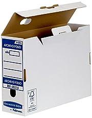 Bankers Box Folio Lomo 100 mm - Caja de archivo definitivo montaje automático, 10 unidades