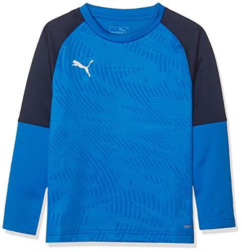 PUMA Kinder Cup Training Sweat Core Jr Sweatshirt, Electric Blue Lemonade-Peacoat, 152