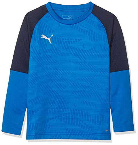 PUMA Kinder Cup Training Sweat Core Jr Sweatshirt, Electric Blue Lemonade-Peacoat, 164