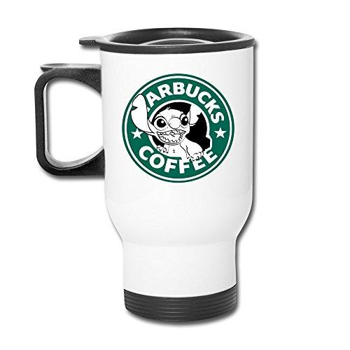 Weiß Lilo und Stitch Starbucks Coffee Travel Kaffee Tassen, Edelstahl
