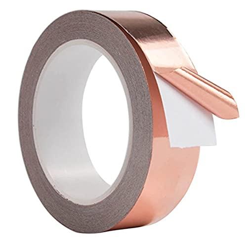Kupferband Gegen Schnecken, EWIGE Schneckenschutz Hochbeet schneckenband Kupferfolie Schneckenzaun Schnexagon Schutzanstrich Kupfer Copper Tape (20M *30MM)