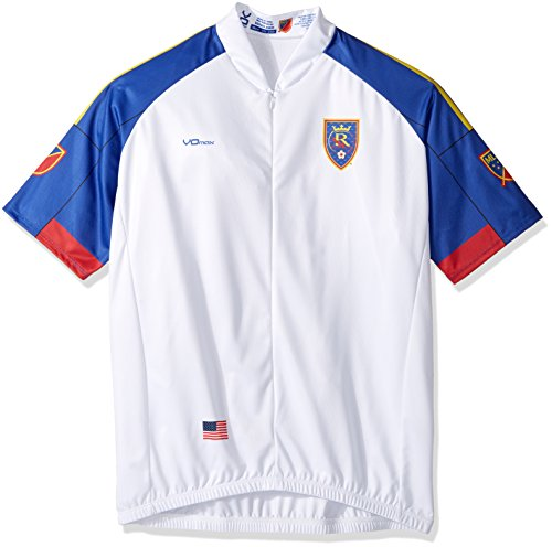 MLS Real Salt Lake Men's Secondary Short Sleeve Cycling Jersey, XX-Large, White