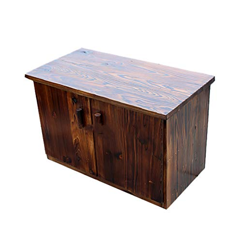 JL All Weather Portable Wooden Outdoor Garden Cabinet Shed Shelf Cupboard Storage For Tools Toys