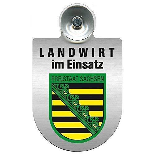 Einsatzschild Windschutzscheibe - Landwirt im Einsatz - incl. Regionen nach Wahl - 309369 - Farbe Region Freistaat Sachsen
