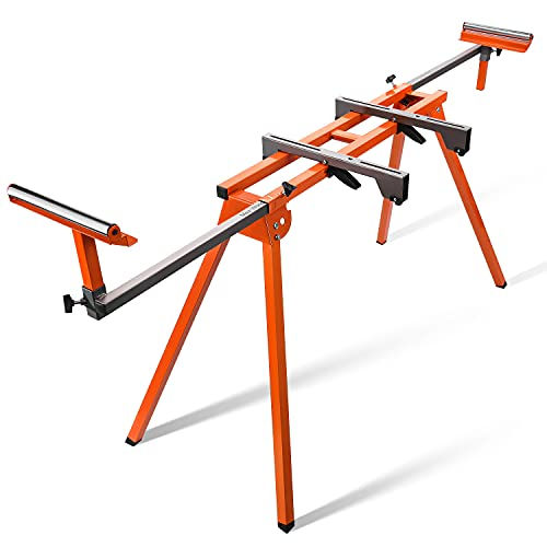 Portable Miter Saw Stand With Durable Iron Skeleton Frame, 21.6lbs Lightweight, 76-4/5