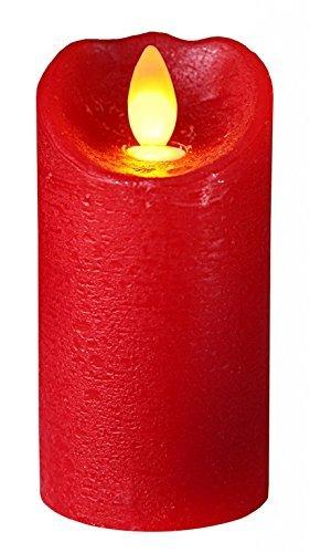 "Star 10x 5,5cm""brillo llama"" vela LED de cera, color rojo"