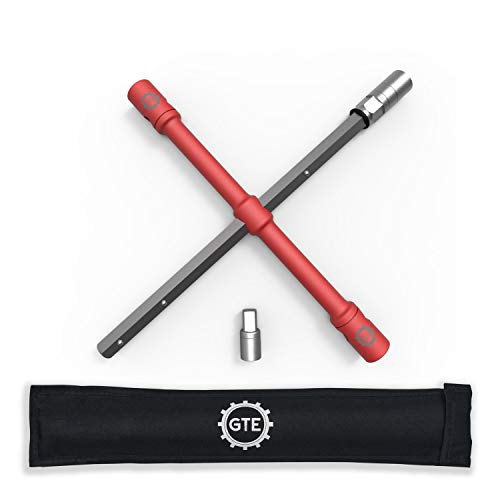 GTE Tools - LugStrong 26' Universal Compact Lug WrenchSet, Super-Strong Tire Iron & Lug Nut Remover - 2X More Torque! Never Get Stuck on The Road Again!