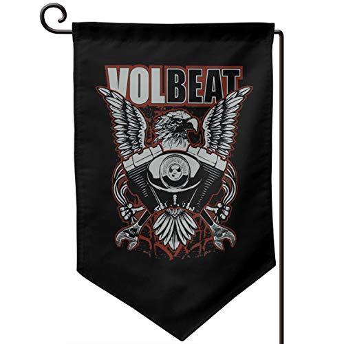 Volbeat All Seasons Flagge Garten Banner Schneeschutz UV-Schutz doppelseitig bedruckt Rasen Outdoor Dekoration