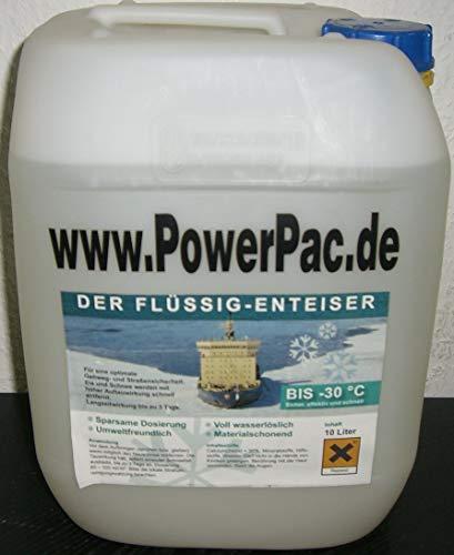 Powerpac jerrycan voor vloeibare stof, 10 liter Geschikt voor vloeibaar debietmiddelreservoir van elektrische sneeuwruimer ES230 - sneeuwschuiver sneeuwschuiver sneeuwveld.