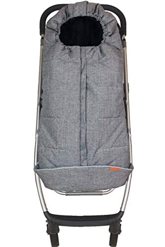 liuliuby Toddler Size Original CozyMuff - Weatherproof Footmuff with Temperature Control - Universal Fit for Strollers (Heather Gray)