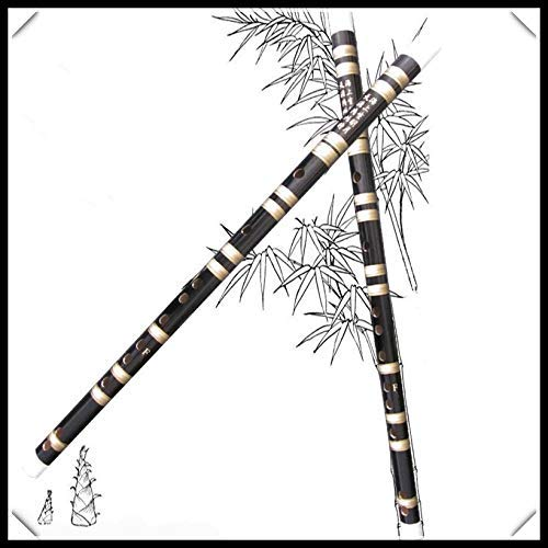 kyman Flauta de bambú Transversal Flauta Woodind Instrumentos Musicales Dizi Key of F o G (Color: D Clave)