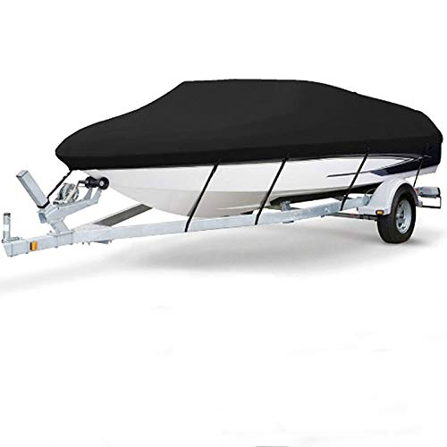 Cubierta para barco, resistente al agua, para lancha rápida, protección UV,11-13ft 14-16ft 17-19ft 20-22ft Fundas para Barco Cubierta de Barco Oxford 210D Azul