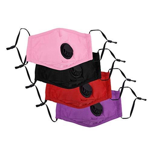 4 x dreilagige bunte Atemschutz für Kinder und Babys gegen Luftverschmutzung, Staub, Wind, Nebel und Dunst, Sicherheit