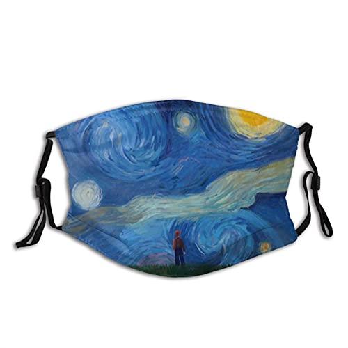 Stararry NightVan Gogh - Pasamontañas con 2 filtros, lavable, reutilizable, transpirable, para hombres, mujeres y adolescentes