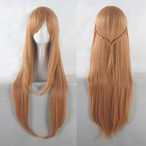 Anime Sword Art Online Yuuki Asuna peluca larga Cosplay disfraz SAO Yuki Asuna mujeres pelo sintético Halloween fiesta juego de roles pelucas