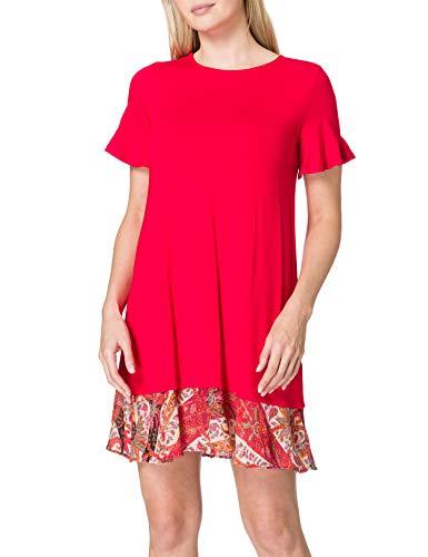 Desigual Vest_Kali Vestido Casual, Rojo, XXL para Mujer