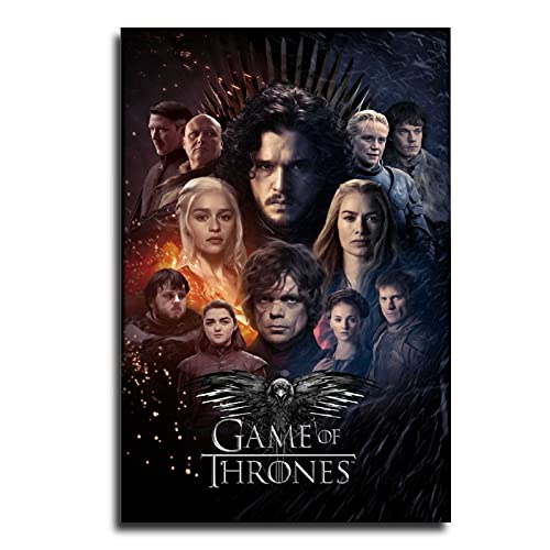 Game of Thrones TV Canvas Art Poster and Wall Art Picture Print Modern Family Bedroom Decor Posters 24×36inch(60×90cm)