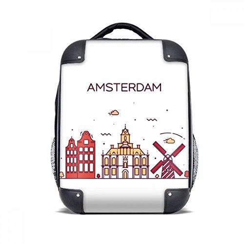 Amsterdam Flat Landmark Hard Case Schouder Draagbare Kinderen Rugzak Gift 15