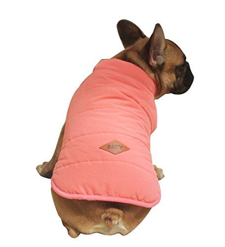 Rantow Animale domestico Cappotto giacca foderato in pile per cani Cucciolo Bottoni invernali Vestiti caldi del vestito della maglia per il chihuahua Corgi Bulldog?Navy Blu XXL)